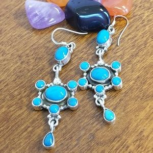 Jewelry - Sterling silver turquoise earrings